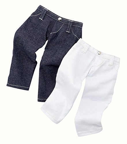 Gotz Set of 2 Jeans, One Blue and One White