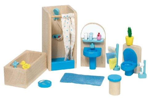 51903 - Badezimmer Puppenhausmöbel , 17-teilig
