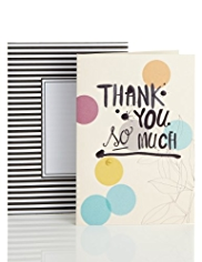 Thank You Spots & Button Greetings Card