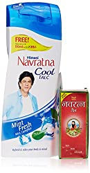 Navratna Cool Talc Mint Fresh, 400gm (free navratna oil 50ml)