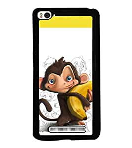 printtech Monkey Banana Back Case Cover for Xiaomi Redmi Mi4i , Xiaomi Mi 4i