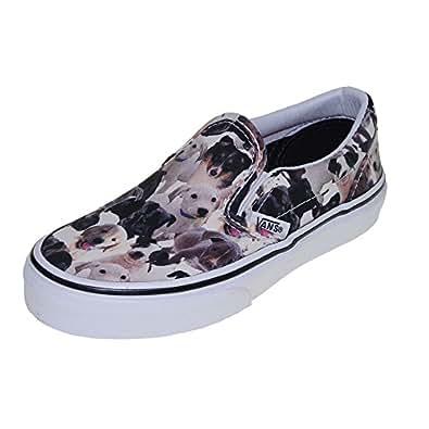 Vans aspca classic puppy white unisex shoes for Vans amazon