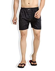 London Bee Men's Cotton L Print Boxer