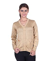eWools Women's Brown Wool Sweater (730-eWools-Medium)