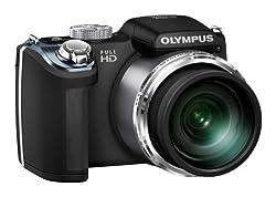 OLYMPUS デジタルカメラ SP-720UZ ブラック 1400万画素CMOS 光学26倍ズーム 広角26mm HDR逆光補正 フルハイビジョンムービー SP-720UZ BLK