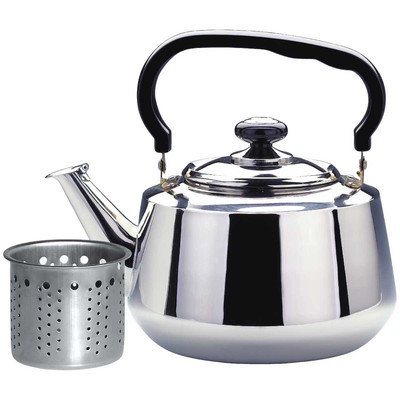 Stainless Steel Tea Kettle Size: 9.2