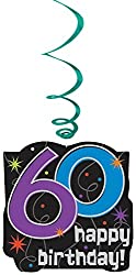60th Brithday Value Pack Swirl Decoration