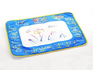 Sannysis® New Released Water Drawing Painting Writing Mat Board + Magic Pen Doodle Toy Gift 36*26.5CM (Sky Blue)