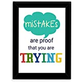 TIED RIBBONS® Inspirational Wall Posters For Girls With Frame