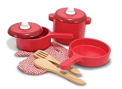 Melissa & Doug Wooden Kitchen Accessory Set