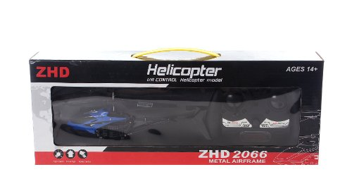Zhd 2066 2.5-Channel Mini Metal Airframe Indoor Infrared R/C Helicopter-2066, Blue - (Premium Quality)
