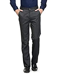 Canary London Navy Men's Skinny Fit Flat Front Trousers