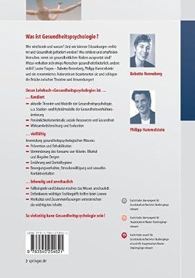 Gesundheits-psychologie (Springer-Lehrbuch) (German Edition)