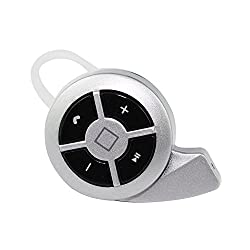 Shopizone Crisp & Clear Mini Style Universal Wireless Bluetooth Headphone In-Ear Bluetooth V4.0 Stealth Earphone Phone Headset - Silver