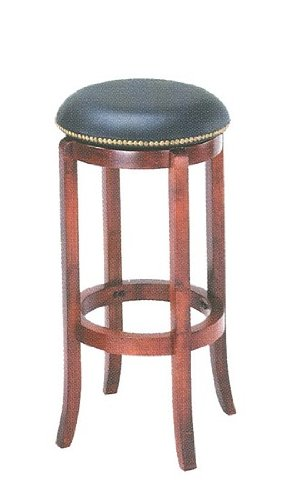ACME Swivel Bar Stool, 24-Inch Height, Cherry