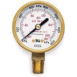 Hobart 770128 Oxy/Acet,Gauge Low Pressure,Psi/Kpa,Oxygen