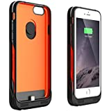"""iPhone 6S Battery Case , Jackery Leaf iPhone 6S/6 Battery Case (4.7 Inches) - MFI Apple Certified 3200mAh External Rechargeable Portable Charger Protective iPhone 6S Charger Case / iPhone 6S Charging Case Extended iPhone Charger Backup Power Bank Battery Pack Cover Cases Fit with Apple iPhone 6S/6 4.7"""" (iPhone 6S Battery Pack / iPhone 6S Power Case / iPhone 6S USB Charger / iPhone 6 Battery Charger)"""