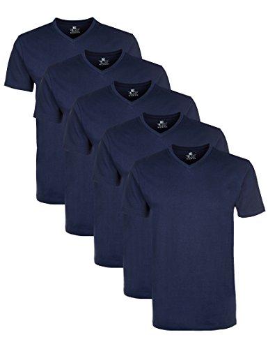 Lower East Herren T-Shirt mit V-Ausschnitt, 5er