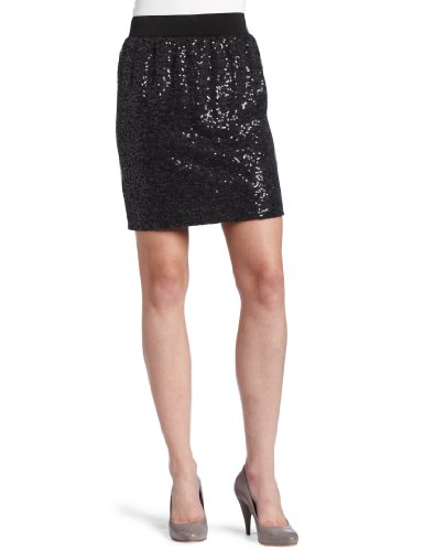 Kenneth Cole Women's Elastic Waist Sequin Skirt