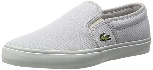 Lacoste - Zapatillas de Lona para mujer, gris, 36 EU