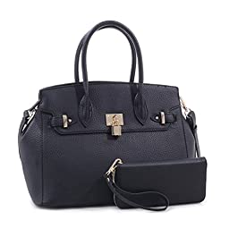 K68024L MyLUX Fashion Designer Handbag (black)