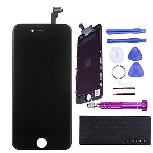 """QI-EU Réparation Retina LCD Display écran Tactile Pour iPhone 6 4.7"""" Noir avec Outils"""