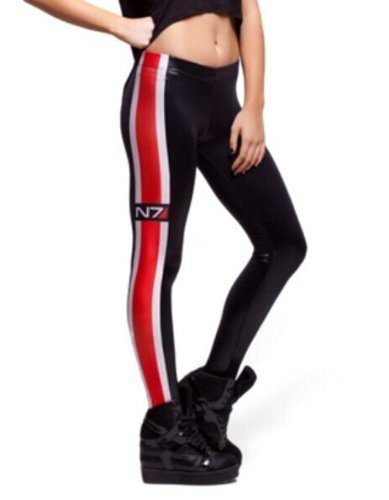 Fashion Women's Digital Printing N7 Flag Leggings Pants by JK-Happy