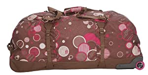 "JanSport Travel Duffel on Wheels 90cm/36"" ( Chocolate Chip Pattern Dots)"