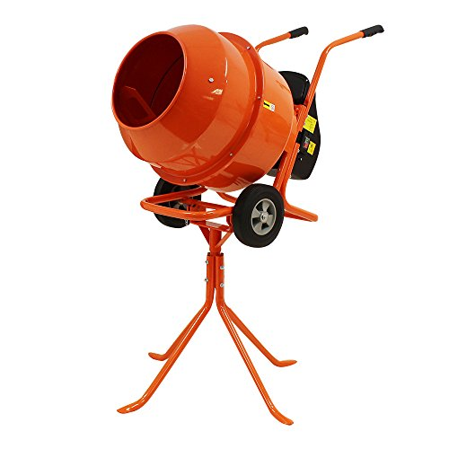 240v-pro-140l-electric-concrete-cement-mixer-mortar-plaster-with-wheels-stand-new