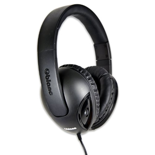 Syba Og-Aud63048 Nc-1 Cobra 2.1 Dual Driver Headphones With Built-In Amplifier And In-Line Microphone - Retail Packaging - Black