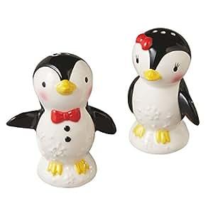 Penguin Salt And Pepper Shakers Set Kitchen
