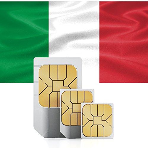 Carte Sim   Italie prépayée avec 750Mo - 30 jours - Taille triple-couple Mini, Micro & Nano