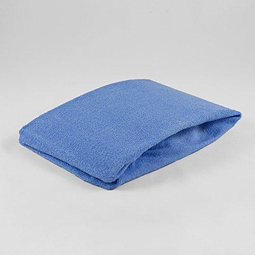 Drap housse pour b b 40 x 90 cm tissu ponge bleu for Drap housse 40x90