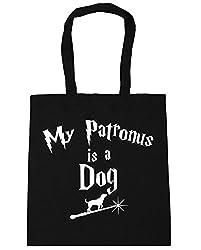 HippoWarehouse My Patronus Is A Dog Tote Shopping Gym Beach Bag 42cm x38cm, 10 litres