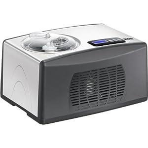 Unold 48806 Eismaschine Cortina Volumen für 1.5 Liter Eiscreme / selbstkühlender Kompressor / Timer / entnehmbarer Eisbehälter / Antihaftbeschichtung / Messbecher und Portionierlöffel