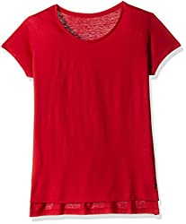 Deal Jeans Women's Body Blouse Top (20444_RED_X-Large)