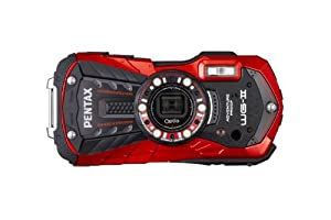 Pentax Optio WG-2 Digital Camera - Red (16MP, 12m Waterproof, 1.5m Shockproof, 5 x Wide Angle Zoom & Full HD Movie) 3 inch 16:9 LCD Screen