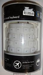iHome Flexible Travel keyboard USB Plug-n-Play Spill-Proof Washable Pink
