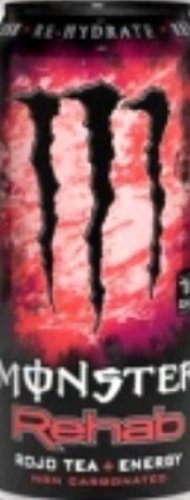 Monster Rehab Energy Drink, Rojo Tea, 15.5-Ounce Cans (Pack of 24)