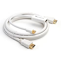 BlueRigger Bundle - Premium Mini DisplayPort (Mini DP) to HDMI Female Adapter + HDMI Cable (6 Feet / 1.8 Meters)