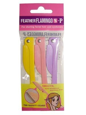 Feather FLAMINGO Eyebrow Shaver 3pcs S-P