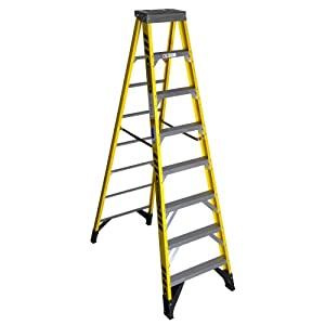 Werner 7308 375-Pound Duty Rating Type IAA Fiberglass Stepladder, 8-Foot