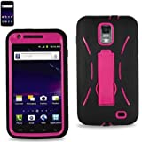 Pink/Black AT&T Skyrocket (Galaxy S2 i727) Premium Heavy Duty Hybrid Case (Outer Silicone + Durable Thick Inner Hard Protector Shell Case W/Kickstand)