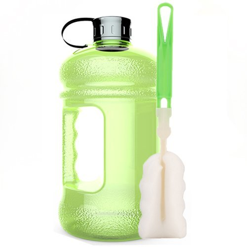High-Capacity New Wave Jug Resin Sports Water Bottles(2.2 Liter)(Green) (Body Building Water Bottles compare prices)