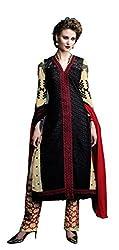 Fabgruh Presents Georgette Dress Material(Black,Beige)
