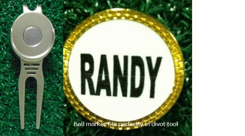 Gatormade Personalized Golf Ball Marker Divot Tool Randy Delores J Smithio