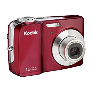Kodak EasyShare C182 12.4 MP Digital Camera with 3x Optical Zoom and 3-inch LCD (Red)