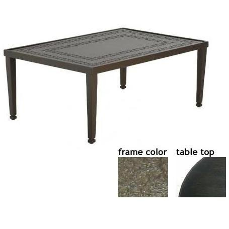 Coffee Tables Low Prices Hudson 32 X 48 Inch Aluminum Rectangle Cocktail Table Aluminum P