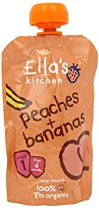 Ella's Kitchen Stage 1 From 4 Months Organic Peaches and Bananas 120 g (Pack of 7)
