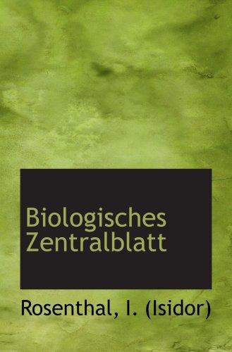 Biologisches Zentralblatt